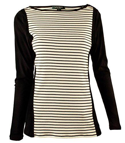 Ralph Lauren Women's Plus Colorblocked Striped Top-MCB-1X