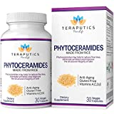 Phytoceramides Ceramide-PCD Made From Rice - Clinically Proven Gluten Free Skincare Supplement, 40mg