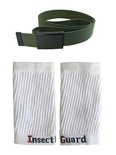 Thunder Bug (InsectGuard - Permethrin Treated Tick & Mosquitoes Insect Repellent Lower Package GW7 (Green/White). One Size Fits All Up To Adult Large!)