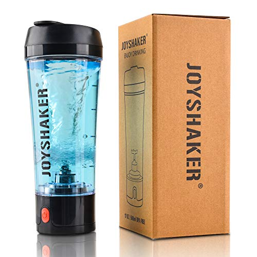 Stylish Electric Shaker Bottle - Smart Automatic Shaker Mixer with Rechargeable Electric USB for Easily Make a Variety of Drinks - Removable and Easy to Clean Protein Shaker Bottle (Dark Blue)