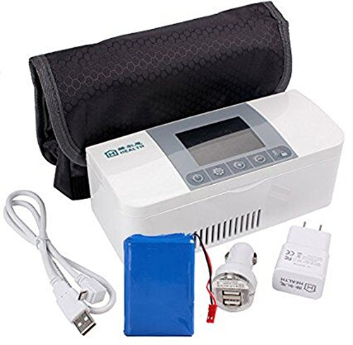 AIJUN Portable Insulin Cooler Case Portable Reefer Car Small Refrigerator