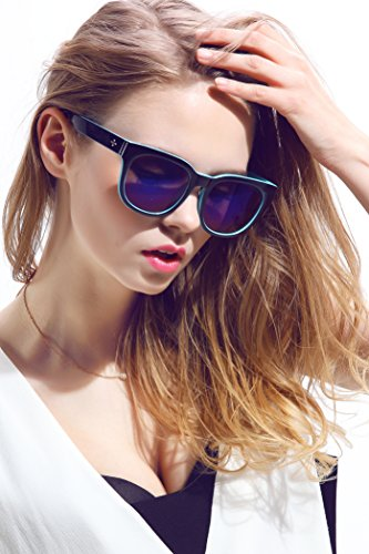 Diamond Candy Women's Sunglasses UV Protection Polarized eye glasses Goggles UV400 59Blue