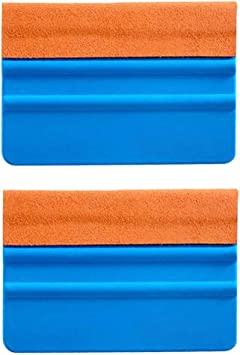 EEFUN Durable Suede Felt Edge Squeegee 4 Inch Car Vinyl Film Wrapping Squeegee Window Tint Working Tool Professional Scratch Free Squeegee,Pack of 8