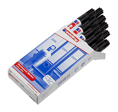 edding  Permanentmarker 3000 schwarz,10er Pack