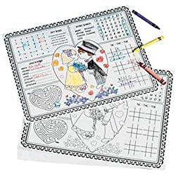 Fun Express Paper Wedding Children's Activity Placemats - 12 Pieces