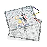 """12 Wedding Place Mats. Covered with fun activities, these place mats are a must-have for rehearsal dinners and wedding receptions. These 14"""" x 11"""" paper place mats have fun children's games to keep the little ones busy! Crayons not included. ..."""