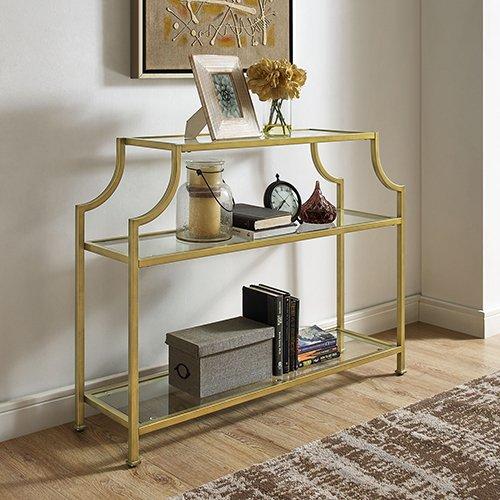 Crosley Furniture Glass Console Table
