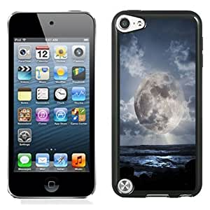 NEW Unique Custom Designed iPod Touch 5 Phone Case With Super Moon Over Sea_Black Phone Case