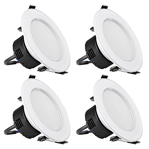 LE 4 Pack 6W 3.5-Inch LED Recessed Lighting, 50W Halogen Bul