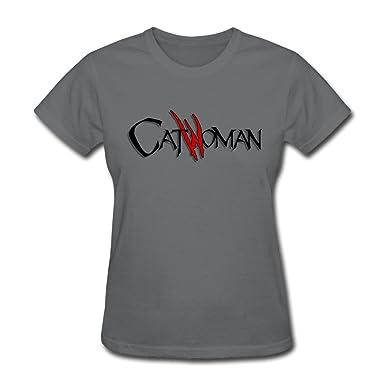 FEDNS Womens Catwoman Logo T Shirt