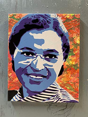 (Rosa Parks Painting on Stretched Canvas 8x10 Inches Signed )
