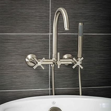 Luxury Clawfoot Tub Or Freestanding Tub Filler Faucet, Modern Design With  Wand Style Hand Shower