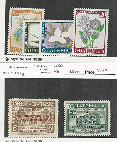 Guatemala, Postage Stamp, C352-5, C415, C360 Mint NH,, used for sale  Delivered anywhere in USA