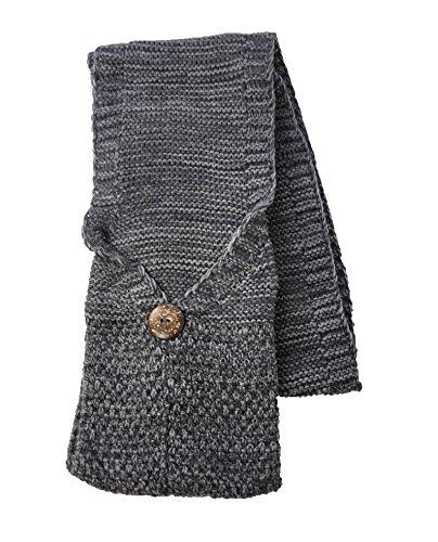 Tan's Women's Cozy Marled Knit Pocket Scarf, Grey
