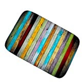 XAJGW Fashion Color Vertical Carpet Soft and Comfortable Flannel Home Carpet Bathroom Kitchen Absorbent Mat (Size : 4060cm/15.7423.62inch)