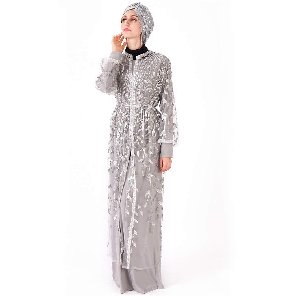 Amazon.com: Fiaya - Vestido de manga larga para mujer ...