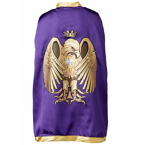 Liontouch 27.005 Golden Eagle Pretend Play Cape, Purple/Gold ()
