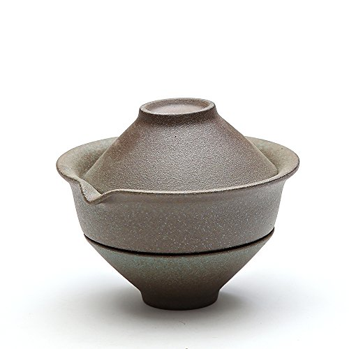 TANGPIN Japanese Ceramic Teapot.Green Shiboridashi with Tea (Japanese Ceramic Tea)
