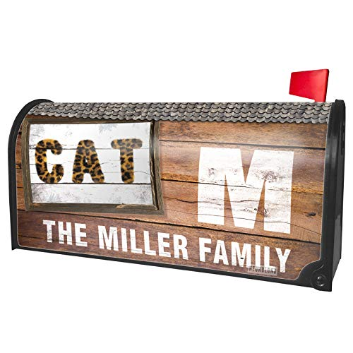 NEONBLOND Custom Mailbox Cover Cat Cheetah Cat Animal -