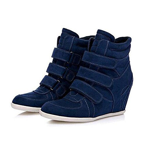 39 Short BLUE Boots Fashion Increasing NSXZ Height Women's wpqYgIBwxf
