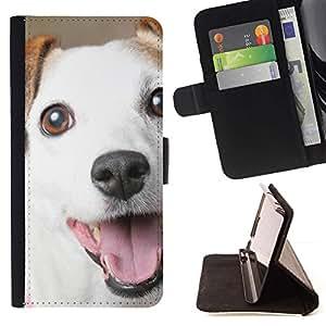 Momo Phone Case / Flip Funda de Cuero Case Cover - Jack Russell Sonrisa Mutt Perro Mestizo; - Samsung ALPHA G850