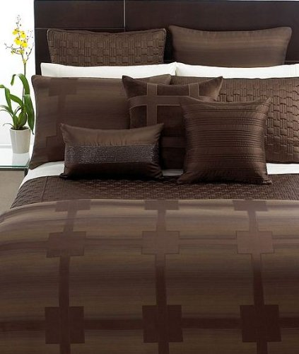 Hotel Collection Meridian 18'' Square Throw Pillow Sepia Brown