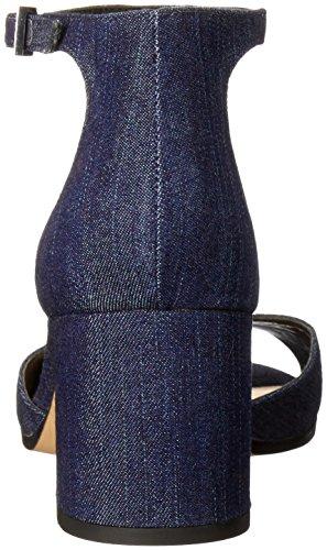 Sam Edelman Women's Susie Heeled Sandal, Black Suede, 10 M US Navy Denim