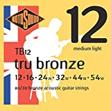 Rotosound TB12 Tru Bronze Acoustic Guitar Strings (12-54)
