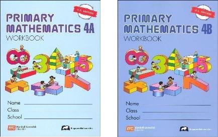 - Primary Mathematics Grade 4 WORKBOOK SET--4A and 4B