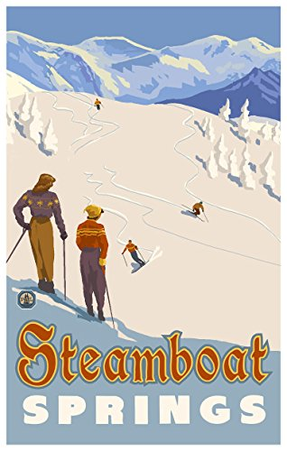 Steamboat Springs Colorado Mountain Skier Slopes Travel Art Print Poster by Paul A. Lanquist (12