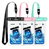 Mpow 024 Waterproof Case, Universal IPX8 Waterproof Phone Pouch Underwater Protective Dry Bag Compatible iPhone Xs Max/XS/XR/X/8/8P, Galaxy S10/S9, Google Pixel/HTC up to 6.5' (Pink Blue Black)