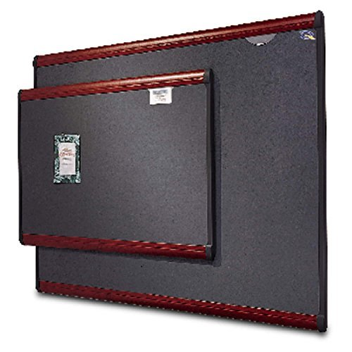 Quartet Prestige Bulletin Board, Diamond Mesh Fabric, 72 x 48, Grey/Mahogany (Mesh Bulletin Board)