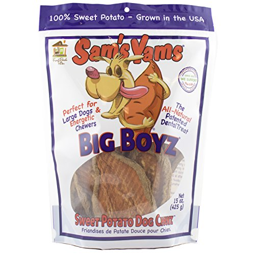 (Sam'S Yams Big Boyz Sweet Potato Dog Treats, 15 Oz, 425 Grams)