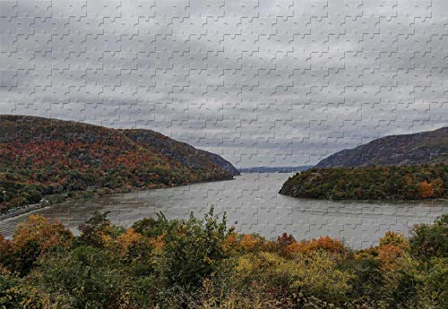 The Hudson River West Point New York 500 Piece Jigsaw Puzzle 20.6 X 15.1'' Wood-Material Famous Paintings Mural