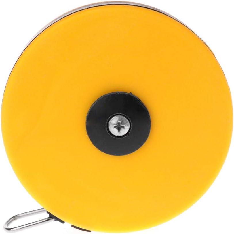 jaune 10 m Cuigu M/ètre /à ruban en acier inoxydable 3 m x 5 m