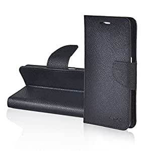 E D World Deluxe Fancy Diary Magnetic Flip PU Leather Wallet Card Slot Pouch With stand function Mobile Phone Bags & Cases For Samsung Galaxy Express 2 SM-G3815 / Black