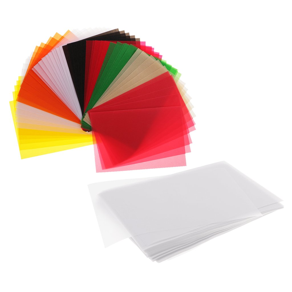 Dovewill 250 Piece Translucent Vellum Papers Tracing Paper for Scrapbooking Drawing Crafts DIY White Colorful