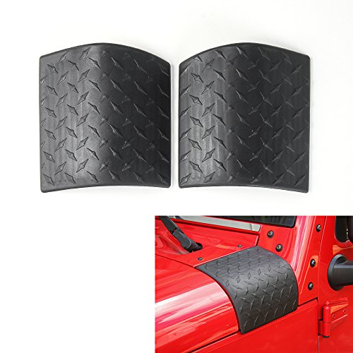 Auto Body Armor (RT-TCZ Cowl Body Armor Outer Cowling Cover for 2007-2017 Jeep Wrangler JK & Unlimited Rubicon Sahara Auto Accessories- Pair(Black))