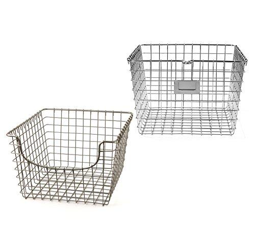 (Spectrum Diversified Wire Storage Basket, Medium, Chrome)