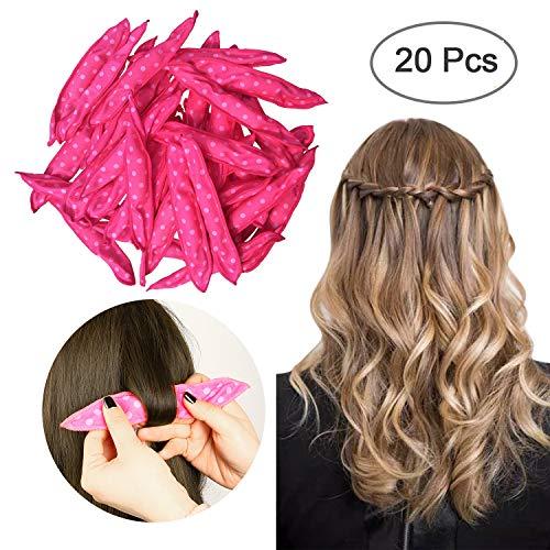 Sponge Flexible Foam Hair Curlers,ARTIFUN 20pcs Soft Sleep Pillow Hair Rollers Set Magic Hair Care DIY Styling Tools for Long Medium Wavy,Tight, Spiral Curls Hair