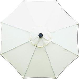 Sunnyglade 9ft Patio Umbrella Replacement Canopy Market Umbrella Top Outdoor Umbrella Canopy with 8 Ribs (Beige)