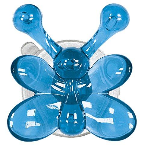 Kleine Wolke MS-Gancio Appendiabiti da Parete in plastica, Set da 4, Colore: Turchese 5068766887