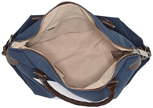 Mujer Blau weisser De Bags4less Bolso F3151 Blau Hombro Stern XwSqwIzT
