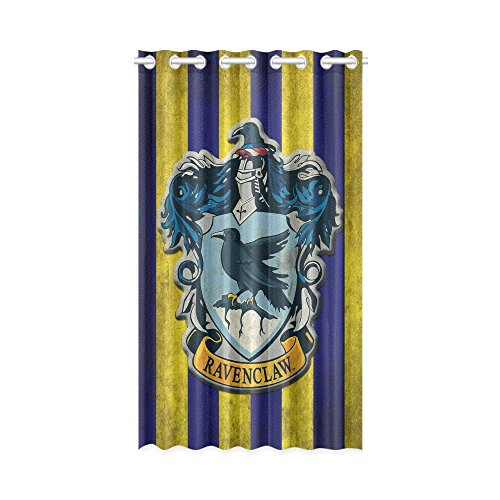 1x Harry Potter Ravenclaw Polyester Window Curtain 52″ x 84″ (132 cm x 213 cm) 9 holes no need hooks and rings