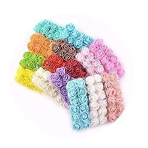 DraFenn 12Pcs/Lot Mini Lace Foam Rose Artificial Flower for Wedding Home Decoration DIY Craft Wreath Gift Decor 40