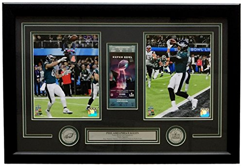Trey Burton & Nick Foles Framed 18x28 Eagles Super Bowl 52 LII Philly Special Collage