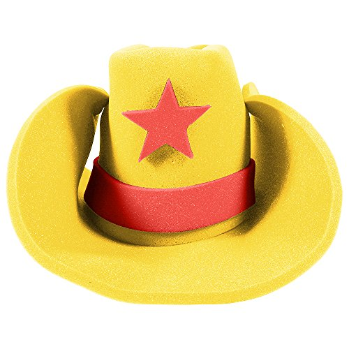 Huge Funny and Crazy Yellow Cowboy Hat Super Size Cowgirl Hats Funny Party Hats (Lone Cowboy Adult Costume)