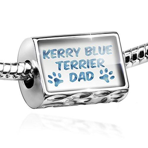Terrier Charm Blue Dog Kerry (NEONBLOND Bead Dog & Cat Dad Kerry Blue Terrier Charm Fits All European Bracelets)