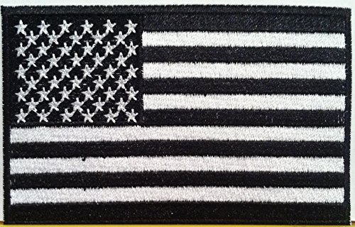 American-Flag-Embroidered-Patch-USA-United-States-of-America-Military-Tactical-Uniform-Emblem-White-Black-Version