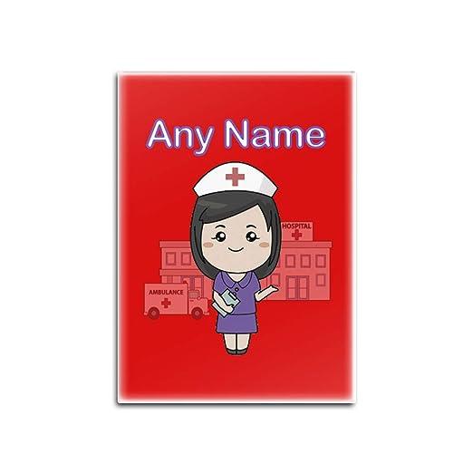 UNIGIFT - Imán para Nevera, diseño de Enfermera, Color Morado ...